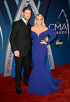 NASHVILLE, TN - NOVEMBER 8:  Mike Fisher, Carrie Underwood arrives at the 51st Annual CMA Awards at the Bridgestone Arena on November 8, 2017 in Nashville, Tennessee. (Photo by Tonya Wise/PictureGroup)