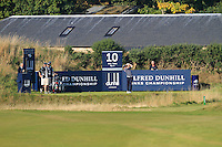 Paul Dunne (IRL) on the 10th tee during Round 1 of the 2015 Alfred Dunhill Links Championship at Kingsbarns in Scotland on 1/10/15.<br /> Picture: Thos Caffrey | Golffile