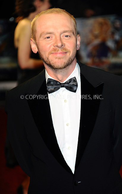 WWW.ACEPIXS.COM . . . . .  ..... . . . . US SALES ONLY . . . . .....November 30 2010, London....Simon Pegg arriving at 'The Chronicles Of Narnia: The Voyage Of The Dawn Treader' Royal Film Performance 2010 at Odeon Leicester Square on November 30, 2010 in London, England. ....Please byline: FAMOUS-ACE PICTURES... . . . .  ....Ace Pictures, Inc:  ..Tel: (212) 243-8787..e-mail: info@acepixs.com..web: http://www.acepixs.com