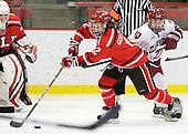 Jamie Goldsmith (St. Lawrence - 12), Alisa Baumgartner (Harvard - 27) - The Harvard University Crimson defeated the St. Lawrence University Saints 8-3 (EN) to win their ECAC Quarterfinals on Saturday, February 26, 2011, at Bright Hockey Center in Cambridge, Massachusetts.
