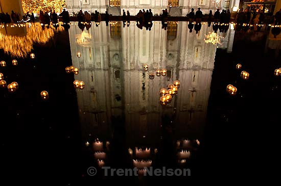 Hundreds of people came to Temple Square Friday night to look at the Christmas lights and nativity displays. . 11/23/2001, 8:51:53 PM<br />