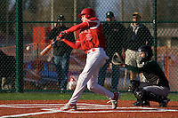 March 8, 2008: Newport Knights senior centerfielder Collin Bennett squares up on a pitch during the 2008 Jamboree at Newport High School in Bellevue, Washington.  The Knights hosted Eastlake, Issaquah and Skyline.