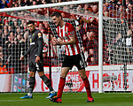 Chris Basham of Sheffield Utd rues a missed chance during the Premier League match at Bramall Lane, Sheffield. Picture date: 7th March 2020. Picture credit should read: Simon Bellis/Sportimage