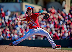 29 February 2020: St. Louis Cardinals top prospect pitcher Jake Woodford on the mound during a game against the Washington Nationals at Roger Dean Stadium in Jupiter, Florida. The Cardinals defeated the Nationals 6-3 in Grapefruit League play. Mandatory Credit: Ed Wolfstein Photo *** RAW (NEF) Image File Available ***