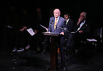 Terrence McNally attends the Edward Albee Memorial at The August Wilson Theatre on December 6, 2016 in New York City.