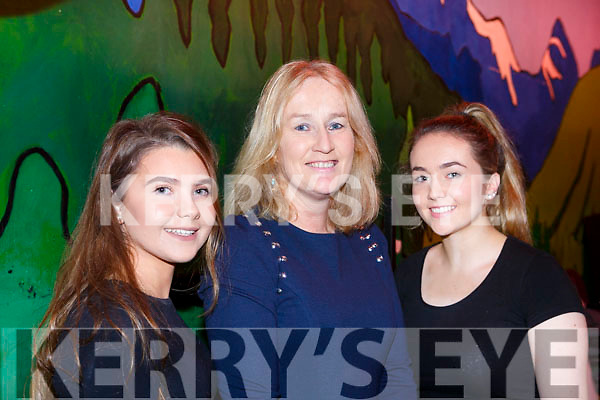 Marlyn Cahill (Castleisland), Monica Murphy (Castleisland) and Millie Luck (Ballymac) ready back stage at the Castleisland Presentation Schools Talent show last Thursday.