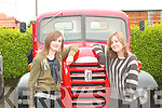 Norma and Rosaleen Harrington, from Lixnaw, pose for a photo at the Vintage day in Knockanure on Sunday...   Copyright Kerry's Eye 2008
