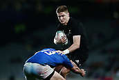 16th June 2017, Eden Park, Auckland, New Zealand; International Rugby Pasifika Challenge; New Zealand versus Samoa;  Jordie Barrett of New Zealand is tackled by Kieron Fonotia of Samoa