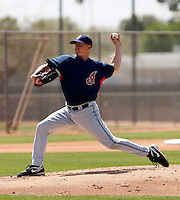 Ryan Miller -  Cleveland Indians - 2009 spring training.Photo by:  Bill Mitchell/Four Seam Images