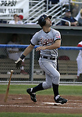 July 22, 2004:  Justin Justice of the Oneonta Tigers, Short-Season Low-A NY-Penn League affiliate of the Detroit Tigers, during a game at Dwyer Stadium in Batavia, NY.  Photo by:  Mike Janes/Four Seam Images