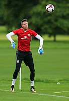Wayne Hennesey in action during the Wales Training Session at the Vale Resort, Hensol, Wales, UK. Tuesday 29 August 2017