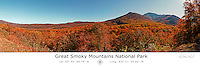 Great Smoky Mountains in Fall with Latitude and Longitude