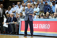 CHAPEL HILL, NC - JANUARY 11: Head coach Roy Williams of the University of North Carolina during a game between Clemson and North Carolina at Dean E. Smith Center on January 11, 2020 in Chapel Hill, North Carolina.