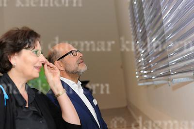 Sept.12-2016,Berlinische Galerie, Berlin,Germany<br /> Berlin Art Week 2016<br />  GASAG Art Prize 2016 to Andreas Greiner<br /> Dr. Thomas Köhler and visitor looking at art