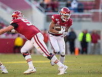 NWA Democrat-Gazette/BEN GOFF @NWABENGOFF<br /> Rakeem Boyd, Arkansas running back, carries in the third quarter vs Mississippi State Saturday, Nov. 2, 2019, at Reynolds Razorback Stadium in Fayetteville.