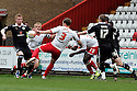 Scott Laird of Stevenage shoots over. - Stevenage v Preston North End - npower League 1 - Lamex Stadium, Stevenage - 9th April, 2012. © Kevin Coleman 2012