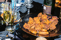 Fried food rests on a table toward the end of the night at the MSNBC After Party at the United States Institute of Peace in Washington, DC. The party followed the annual White House Correspondents Association Dinner on Saturday, April 30, 2016. The party continued until about 3 AM on Sunday, May 1, 2016.