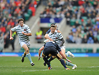 Twickenham, GREAT BRITAIN,   Cambridges' William SMITH running with the ball  the 2012 Varsity Rugby match.  Oxford vs Cambridge, at the RFU Stadium, Twickenham, Surrey. on Thursday  06/12/2012...[Mandatory Credit; Peter Spurrier/Intersport-images]