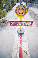 Equator at 'Middle of the World', San Antonio de Pichincha, Quito, Ecuador, South America