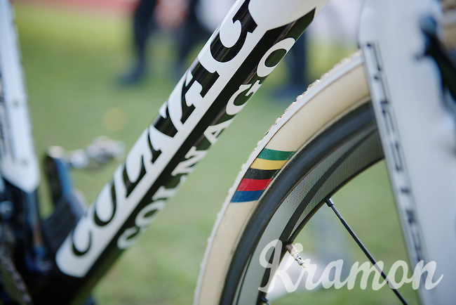 Superprestige Zonhoven 2013<br /> <br /> Sven Nys' (BEL) customised world champ tires