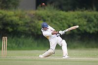 S Patel of Rainham is caught Bentley CC (Bowling) vs Rainham CC, T Rippon Mid Essex Cricket League Cricket at Coxtie Green Road on 9th June 2018
