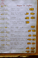 Europe/France/Bretagne/29/Finistère/Ile d'Ouessant: Registre portant les marques des moutons par famille conservé à la mairie
