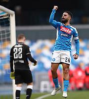 Lorenzo Insigne of Napoli celebrates after scoring a goal<br /> Napoli 14-01-2020 Stadio San Paolo <br /> Football Italy Cup 2019/2020 SSC Napoli - AC Perugia<br /> Photo Cesare Purini / Insidefoto