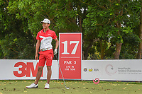 Kazuya OSAWA (JPN) reacts to his tee shot on 17 during Rd 3 of the Asia-Pacific Amateur Championship, Sentosa Golf Club, Singapore. 10/6/2018.<br /> Picture: Golffile | Ken Murray<br /> <br /> <br /> All photo usage must carry mandatory copyright credit (© Golffile | Ken Murray)