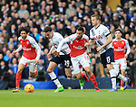 Tottenham's Dele Alli and Eric Dier tussle with Arsenal's Francis Coquelin<br /> <br /> - English Premier League - Tottenham Hotspur vs Arsenal  - White Hart Lane - London - England - 5th March 2016 - Pic David Klein/Sportimage