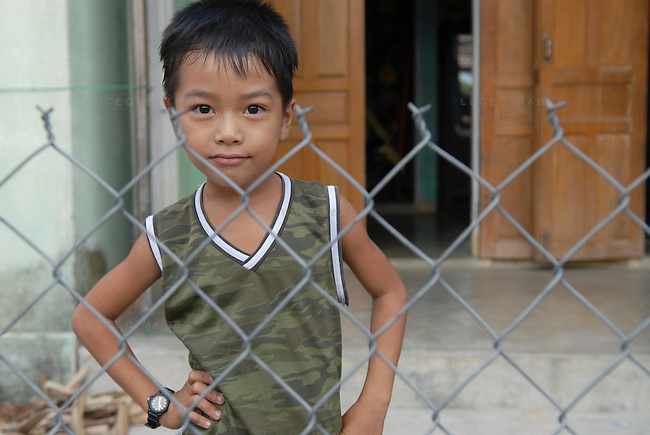 A Vietnamese child at his home outside of Ho Chi Minh City, Vietnam.