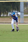 Kyle Tako (12) of Hollywood, Florida during the Baseball Factory All-America Pre-Season Rookie Tournament, powered by Under Armour, on January 13, 2018 at Lake Myrtle Sports Complex in Auburndale, Florida.  (Michael Johnson/Four Seam Images)