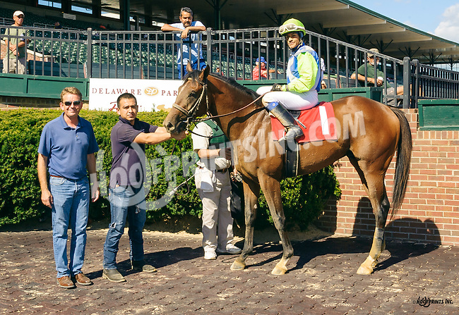 Sound Off winning at Delaware Park on 9/7/16