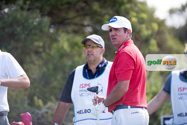 Scott Hend (AUS) during the 2nd round of the VIC Open, 13th Beech, Barwon Heads, Victoria, Australia. 08/02/2019.<br /> Picture Anthony Powter / Golffile.ie<br /> <br /> All photo usage must carry mandatory copyright credit (© Golffile | Anthony Powter)