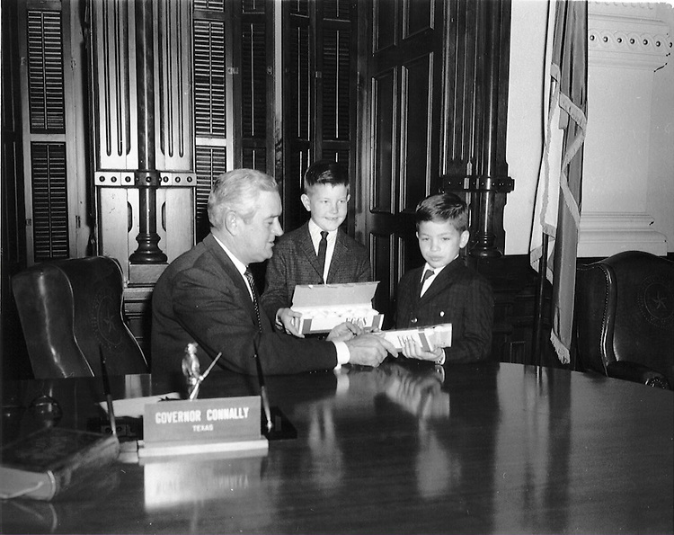 "HensarlingAttic --  Jeb Hensarling, Freshman TX-05.  A little background on the pic--The year was 1965, our father Charles Hensarling was President of the Texas Egg Council.  Whatever month this was taken was ""egg month"" so they presented eggs to Governor Connally.  Jeb is the shorter boy, the furthest away from Connally."