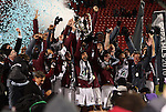 21 November 2010: Colorado's Pablo Mastroeni (25) hoists the Philip F. Anschutz trophy overhead while celebrating with his team. The Colorado Rapids defeated FC Dallas 2-1 in overtime at BMO Field in Toronto, Ontario, Canada in MLS Cup 2010, Major League Soccer's championship game.