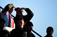Lincoln City fans enjoy the pre-match atmosphere<br /> <br /> Photographer Chris Vaughan/CameraSport<br /> <br /> The EFL Sky Bet League Two - Lincoln City v Port Vale - Tuesday 1st January 2019 - Sincil Bank - Lincoln<br /> <br /> World Copyright &copy; 2019 CameraSport. All rights reserved. 43 Linden Ave. Countesthorpe. Leicester. England. LE8 5PG - Tel: +44 (0) 116 277 4147 - admin@camerasport.com - www.camerasport.com