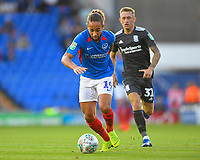 Mark Harness of Portsmouth gets away from Charlie Lakin of Birmingham City during Portsmouth vs Birmingham City, Caraboa Cup Football at Fratton Park on 6th August 2019