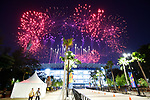 General view, <br /> AUGUST 18, 2018 - Opening Ceremony : <br /> Opening Ceremony <br /> at Gelora Bung Karno Main Stadium <br /> during the 2018 Jakarta Palembang Asian Games <br /> in Jakarta, Indonesia. <br /> (Photo by Naoki Morita/AFLO SPORT)