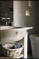 BNPS.co.uk (01202 558833)<br /> Pic: UniqueHomeStays/BNPS<br /> <br /> Basically concrete everything.....including the bath.<br /> <br /> Bomb proof hideaway - the perfect place to cement a relationship...<br /> <br /> A concrete carport has been transformed into a ultra cool luxury staycation bolt hole - with even its fireplace, kitchen worktops and bath made from concrete. <br /> <br /> The Hide is perfect for romantic weekends away or creative solo escapes but it will set the minimalist traveller back up to &pound;2,350 a week in peak season.<br /> <br /> Despite its slightly industrial appearance, it is actually a cosy rural retreat, surrounded by nature at the end of a winding country lane three miles from Perranporth beach in north Cornwall.<br /> <br /> Unique Home Stays used a bird hide as the inspiration with quirky stick-out windows that allow guests to stargaze from the bed and lighting designed to replicate the effect of sunlight through trees.