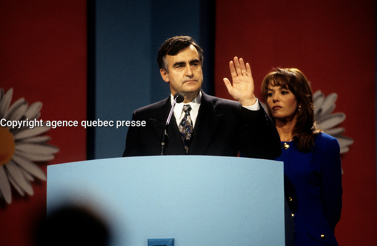 Lucien Bouchard<br />  during the 1995 Referendum day.