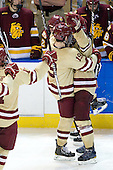 Chris Kreider (BC - 19), Patrick Wey (BC - 6) - The Boston College Eagles defeated the University of Minnesota Duluth Bulldogs 4-0 to win the NCAA Northeast Regional on Sunday, March 25, 2012, at the DCU Center in Worcester, Massachusetts.