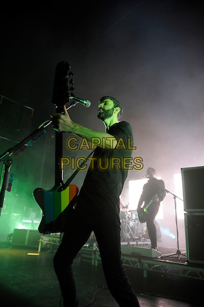 LONDON, ENGLAND - MARCH 25: Stefan Olsdal of 'Placebo' performing at Eventim Apollo on March 25, 2015 in London, England.<br /> CAP/MAR<br /> &copy; Martin Harris/Capital Pictures
