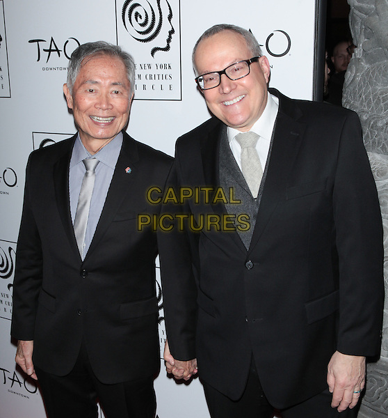 NEW YORK, NY - JANUARY 4:   George Takei and  Brad Altman at the New York Film Critics Circle Awards at TAO Downtown in New York City on January 4, 2016. <br /> CAP/MPI99<br /> &copy;MPI99/Capital Pictures