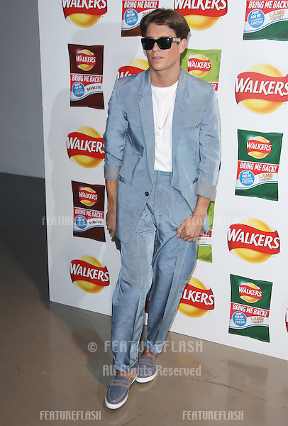 Joey Essex arriving at Walkers' Bring It Back campaign launch party held at Vinopolis, London. <br /> September 3, 2015  London, UK<br /> Picture: James Smith / Featureflash