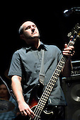 22/05/2006 Barbican Hall, London, England. Brazilian Mangue Beat band Nacao Zumbi; bassist.