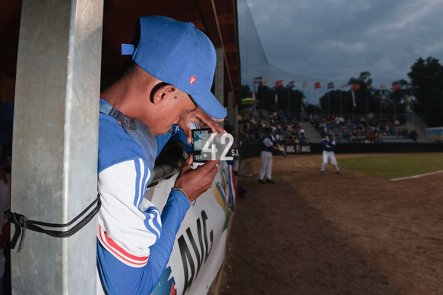 17 August 2010: Luis de la Rosa of Team France takes a picture during the Czech Republic 4-3 win over France, at the 2010 European Championship, under 21, in Brno, Czech Republic.