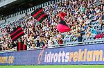Stockholm 2014-07-31 Fotboll Europa League IF Brommapojkarna - Torino FC :  <br /> Unga supportrar till Brommapojkarna med flaggor<br /> (Foto: Kenta J&ouml;nsson) Nyckelord:  BP Brommapojkarna IFB Tele2 Arena Europa League Torino FC TFC Italien Itay supporter fans publik supporters