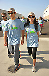 PACOIMA, CA. - October 10: Michael Rady and Stephanie Jacobsen  walking at The 2009 American Dream Walk To Benefit Habitat For Humanity at Lowe's Home Improvement on October 10, 2009 in Pacoima, California.