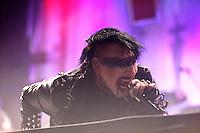 CAMDEN, NJ - OCTOBER 19 :  Marilyn Manson performing at the Susquehanna Bank Center in Camden, New Jersey on October 19, 2012  © Star Shooter / MediaPunch Inc /NortePhoto