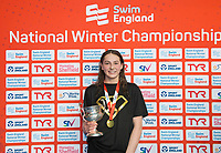 Picture by Allan McKenzie/SWpix.com - 16/12/2017 - Swimming - Swim England Nationals - Swim England Winter Championships - Ponds Forge International Sports Centre, Sheffield, England - Mia Slevin takes gold in the womens open 200m backstroke.